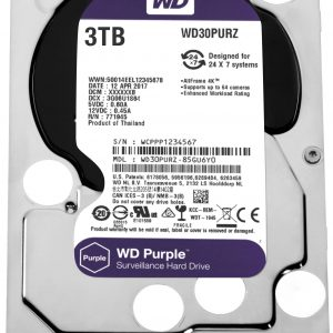 DISCO RIGIDO WESTERN DIGITAL PURPLE 3TB WD30PURZ