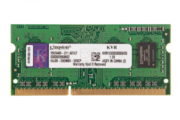 Memoria RAM para Notebook 2GB DDR3 1333MHz KVR13S9S6/2 – Kingston