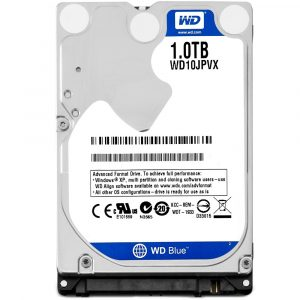 HD WD SATA 2.5″ p/ Notebook 1TB 5400RPM 8MB Cache SATA 6.0Gb/s WD10JPVX