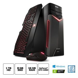 PC Gamer Acer Aspire Intel Core i7 16GB RAM 1 TB HD + 8GB SSD NVIDIA GeForce GTX 1060 com 6 GB Windows 10 – GX-783-BR13