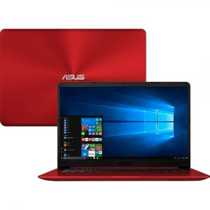 Notebook Asus VivoBook 15, Intel Core i5-8250U, 4GB, 1TB, Windows 10 Home, 15.6″, Vermelho – X510UA-BR666T