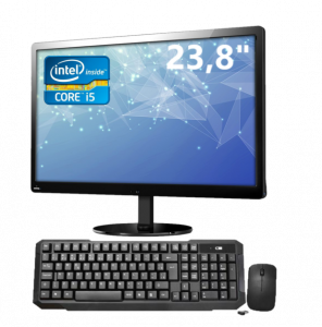 All in One ORO 23,8″, Intel Core i5 8400 2,80Ghz, 4GB, HD 500GB, Linux, Teclado e Mouse