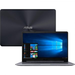 Notebook Asus VivoBook 15, Intel Core i5-8250U, 8GB, 1TB, Windows 10 Home, 15.6″, Cinza – X510UA-BR667T