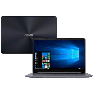 Notebook Asus VivoBook 15, Intel Core i5-8250U, 4GB, 1TB, NVIDIA GeForce 930MX 2GB, Windows 10 Home, 15.6″, Cinza – X510UR-BQ378T
